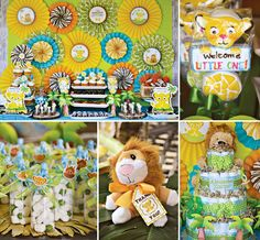 If youre looking for Lion King Baby Shower ideas. Crissy's Crafts has a stampede of wonderful safari style ways to celebrate a little cub on the way! Lion King Baby Shower, Baby Shower Niño, Baby Shower Gender Reveal, Baby Shower Games, Baby Shower Parties, Lion King Theme, Lion King Birthday, Safari Party, Safari Theme