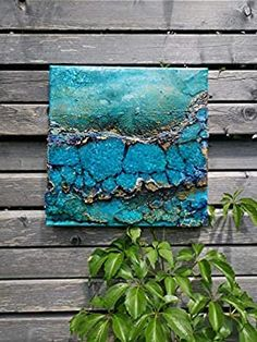 Unterwasser Attersee (Serie Blue Times): Amazon.de: Handmade Turquoise Necklace, Heart Pictures, Impressionism, Paintings On Canvas, Blue Green, Arts And Crafts