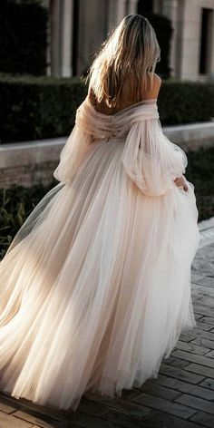 Champagne Off the Shoulder Tulle Wedding Dresses,Long Sleeves Bridal Dress,Lace Wedding Gown · SofieDress · Online Store Powered by Storenvy Long Sleeve Bridal Dresses, Long Wedding Dresses, Bridal Gowns, Wedding Gowns, Prom Dresses, Formal Dresses, Tulle Wedding, Wedding Venues, Wedding Bride
