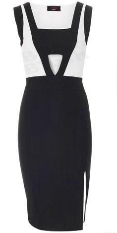 Michelle  Inspired Black Bodycon Dress