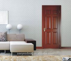 natural wood solid bed room interior wood door