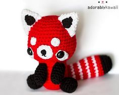 (4) Name: 'Crocheting : Red Panda Amigurumi