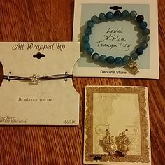 Owl jewlery Three new in package pieces of jewlery with owl charms. Two bracelets and one set of earrings. These are perfect for the earthy owl lover in your life. Jewelry
