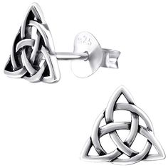 *Small imperfections, reduced in price to reflect this. The Triquetra earrings are Sterling Silver. Approximately by Please note: due to hygiene, earrings are not refundable. Triquetra, Sterling Silver Earrings, Cufflinks, Accessories, Om, Vintage, Products, Filigree Jewelry, Stud Earring