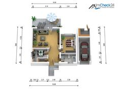 Die 120 m² wohnfläche präsentieren sich mit einem soliden Grundriss.