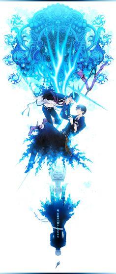 Ao no Exorcist | Blue Exorcist | Shirou Fujimoto, Rin & Yukio Okumura | Anime | Fanart | SailorMeowMeow