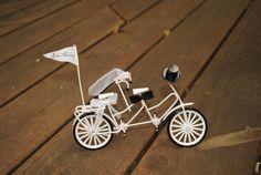 Vintage Tandem Bicycle Cake Topper  Bride & Groom