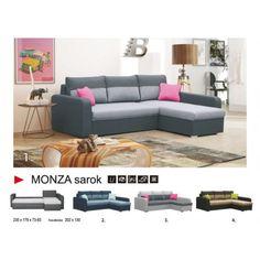 Monza sarokkanapé Couch, Furniture, Home Decor, Settee, Decoration Home, Sofa, Room Decor, Home Furnishings, Sofas