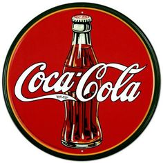 """Coca-Cola - """"On May a pharmacist named Dr. John Pemberton carried a jug of Coca-Cola® syrup to Jacobs' Pharmacy in downtown Atlanta, where it was mixed with carbonated water and sold for five cents a glass."""" - Source: The Coca-Cola Company - Heritage Coca Cola Vintage, Coca Cola Poster, Coca Cola Cake, Vintage Signs, Vintage Ads, Vintage Style, Funny Vintage, Vintage Plates, Retro Style"""
