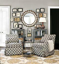 The chairs! patterned swivel gliders #ballard
