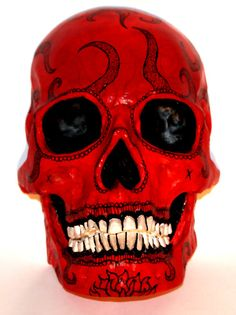 Day of The Dead Skull wall mount by AestheticDisposition on Etsy, $60.00 #crafts #art #handmade