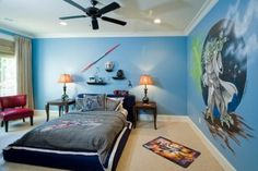 Kid's Space Themed Bedroom Design Ideas