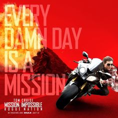 Prepare for next-level action in Mission: Impossible Rogue Nation starring Tom Cruise. #MissionImpossible