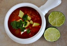 Mexican Vegetable Soup -VERY GOOD I used black beans and no rice. But I was lazy, would try next time w rice.