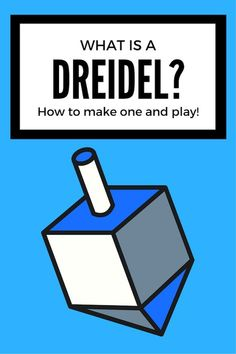 What is a Dreidel? How to Make and Play with this Traditional Toy What is a Dre. What is a Dreidel? How to Make and Play with this Traditional Toy What is a Dreidel? Learn about t Winter Activities For Kids, Science For Kids, Science Activities, Learning A Second Language, Traditional Toys, Holidays Around The World, Craft Projects For Kids, Craft Ideas, Help Teaching