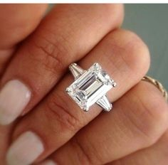 Emerald cut with tapered baguettes
