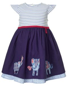 Baby Edie Elephant Dress | Blue | Monsoon