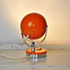 Vintage Modernist 1970's Bedside Lamp - Table Lamp - Desk Lamp