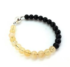 Positivity and Protection Bracelet - (black tourmaline and citrine) | New Moon Beginnings