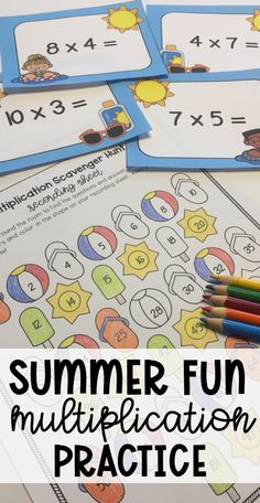 End of the Year Multiplication Scavenger Hunt Multiplication Activities, Math Activities, Learning Resources, Teacher Resources, End Of Year Activities, Primary Maths, Teaching Math, Teaching Ideas, Elementary Math