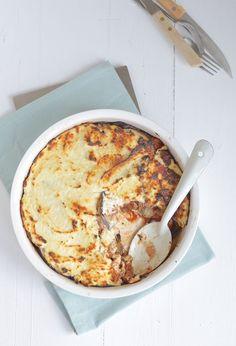 Fresh & Easy: SKINNY MOUSSAKA. Dit recept is Voedselzandloper proof als je kipgehakt ipv rund gebruikt.