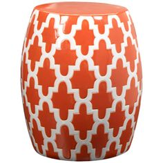 I pinned this Mauritius Garden Stool from the Coastal Contemporary event at Joss and Main!