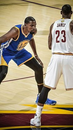 Kevin Durant, Golden State Warriors, versus LeBron James, Cleveland Cavaliers.