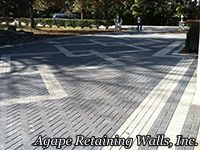 Romanstone Holland Paver Driveway designed & installed by Agape Retaining Walls, Inc. In St. Louis, MO
