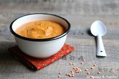 Velouté de lentilles corail au cumin et coriandre . .     - Recette facile - Soupe - Comfort food - soup - lentils soup - french recipe - red lentils soup