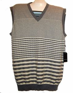 Repert Collection Men's Gray Wool Cotton Sweater Vest Casual V-Neck Size XL  #ReportCollection