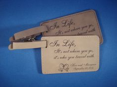 WEDDING FAVORS - 25 Custom Leatherette Luggage Tags personalized with your design. Save the Date, Wedding Favors, Destination Weddings Food Wedding Favors, Wedding Favor Labels, Custom Wedding Favours, Wedding Shower Favors, Beach Wedding Favors, Personalized Wedding Favors, Destination Wedding, Wedding Souvenir, Bridal Shower