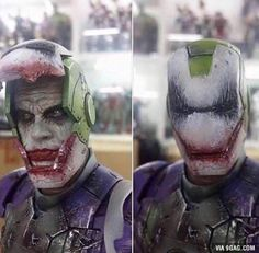 Iron joker. This is cool but also the same time creepy