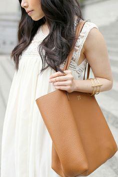 GiGi New York | Saddle Tori Tote | Her Waise Choice Fashion Blog