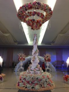 The grand wedding cake. The tallest in indonesia, 4.1m high by handi's cakes
