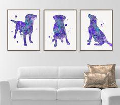 Labrador Art Labrador Print Set of 3 Prints Watercolor