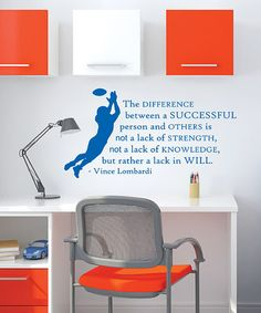 Another great find on #zulily! 'Success' Lombardi Wall Quotes™ Decal #zulilyfinds