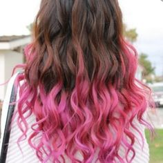 highlighted tips of hair | Pink Highlights for Brown Hair