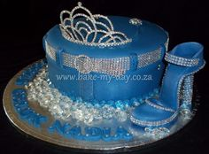 Denim and Diamonds Cake