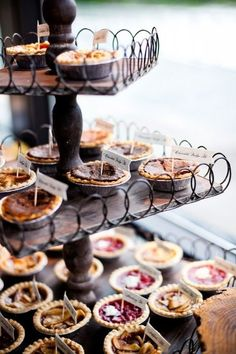cute mini pie display.