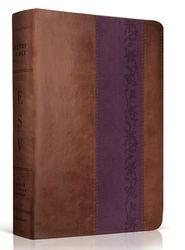 ESV Study Bible, TruTone, Brown/Purple with Iris Design  -