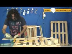 φωτιστικό από παλέτα ! - YouTube Jenga, Pallets, Table, Lamps, Diy, Furniture, Youtube, Home Decor, Lightbulbs