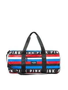 Victorias Secret PINK Bundle of Duffle Bag LA /& Vacay Charm Keychain