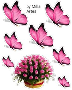 Cake Toppers, David, Floral, Bow Braid, Conch Fritters, Stars, Butterflies, Stickers, Garden