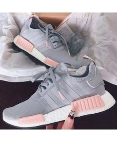 Womens Adidas NMD R1 Clear Onix Pink Grey Shoes