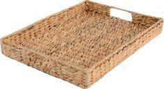 Creative Tops - Vassoio intrecciato (giacinto d'acqua), colore naturale, misura: L, multicolore: Amazon.it: Casa e cucina