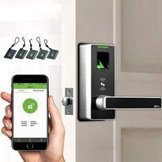 Smart Lock with Bluetooth Keyless Fingerprint Door Lock Up to 90 Users DIY