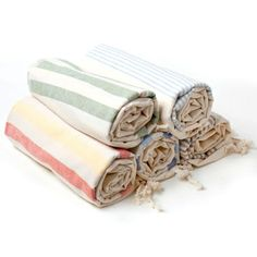 Turkish Pestemal Towels: Hand-woven using 100% Turkish cotton by traditional methods and dyed with vegetable dyes, famous for its absorbency and softness. Perfectly suited for everyday use and a great escape from the typical terry cloth towel. Compact and lightweight, it is a perfect for travels
