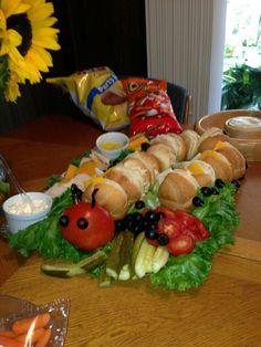 "Bug Birthday Party | Food Drink | Caterpillar ""Sub"" Sandwich"