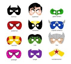 Printable masks for superhero theme by harriet - Visit now to grab yourself a super hero shirt today at 40% off!