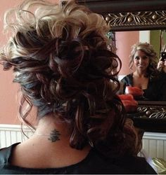 luvin this up do. Fancy Hairstyles, Bride Hairstyles, Bridesmaid Hair, Prom Hair, Wedding Hair And Makeup, Hair Makeup, Hair Today, Hair Dos, Hair Inspiration